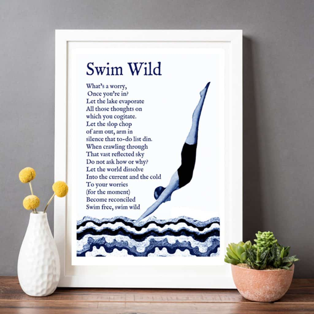 Swimming Print - Gift for a Swimmer