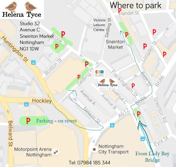Helena Tyce Designs Parking Map 2018