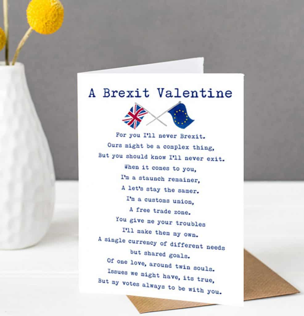 Brexit  Card - funny Valentine card