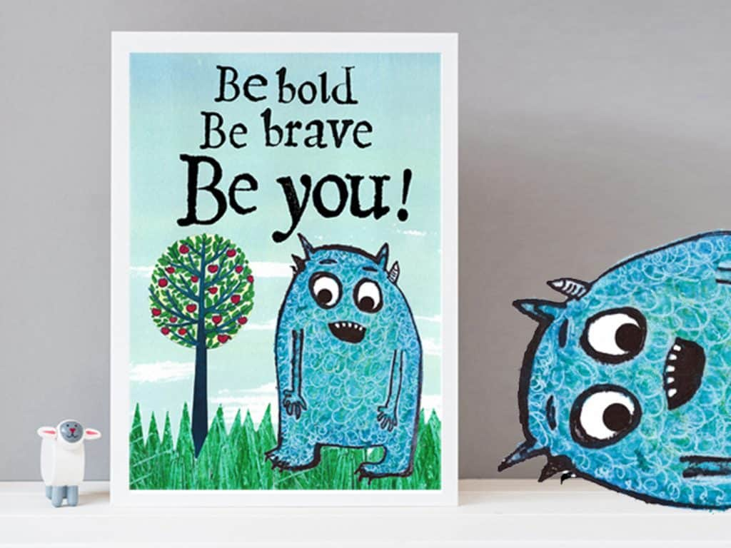 Be Brave empowering print for children
