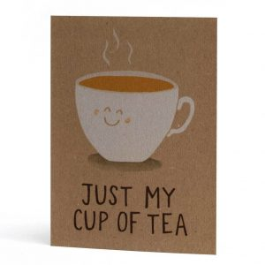 Valentines card for tea lovers
