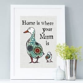 Home is where your mum is print for mum