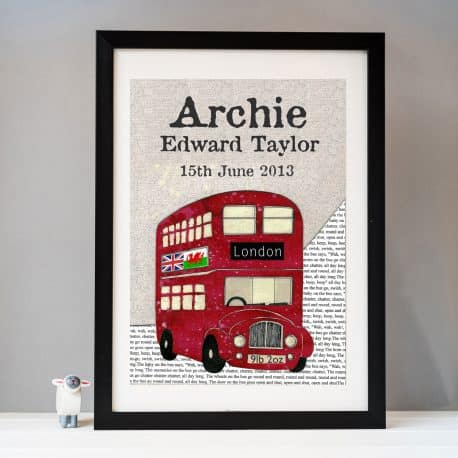Personalised Bus print example Archie