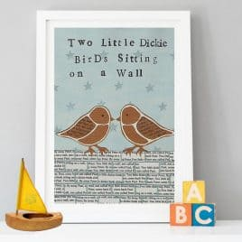 Two Little Dickie birds art Print