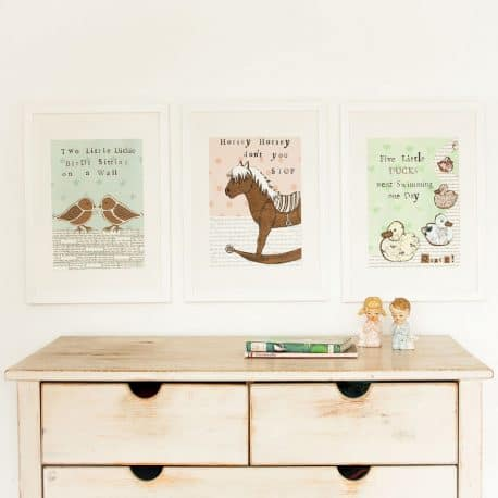 nursery rhyme prints for babies nursery