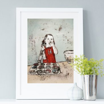 Mummy's Little Helper Art Print