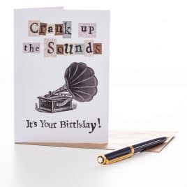 Crank up the Sounds Birthday Card