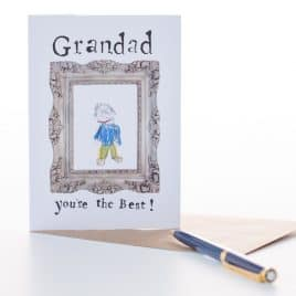 """Grandad, you're the best"" Card"