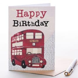 Happy Birthday Bus Greeting Card