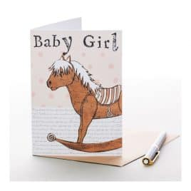 Baby Girl Horse Greeting Card