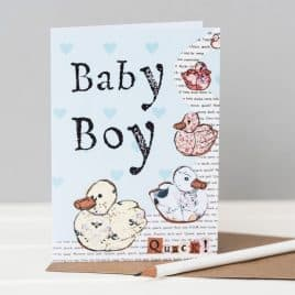 Baby boy Ducks Greeting Card