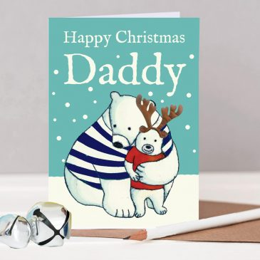 Happy Christmas Daddy Bear Card