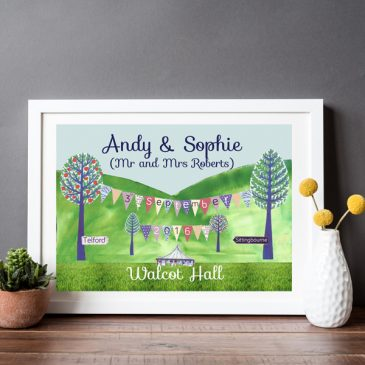 wedding print - wedding gift - personalised wedding print