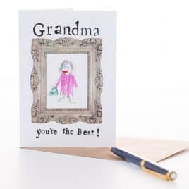 """Grandma You're the Best"" card"