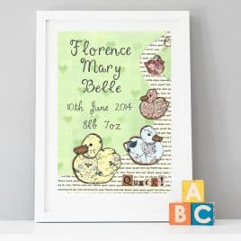 Personalised 5 Little Ducks Print