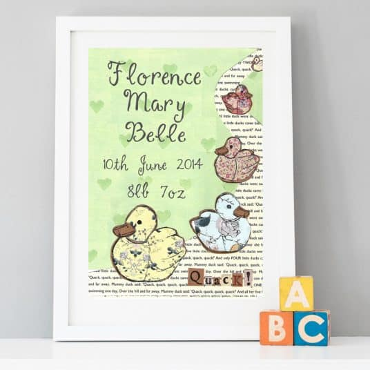 Five Little Ducks Print personalised low res