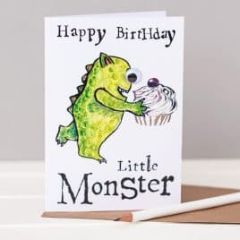 Happy Birthday Little Monster Card