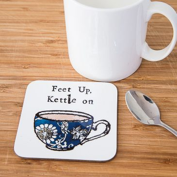 Feet Up Kettle On Coaster