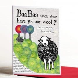 Baa Baa Black Sheep Greeting Card