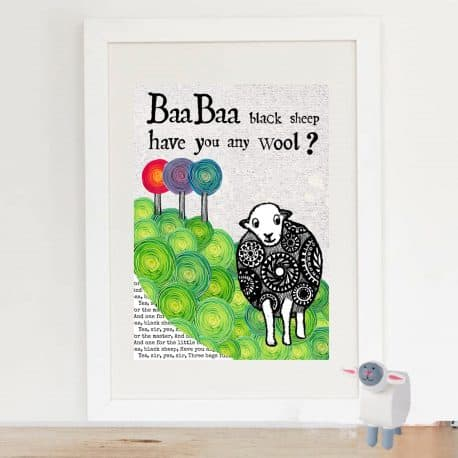 baa baa framed and mounted