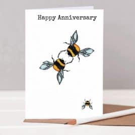 Anniversary card with bees on it