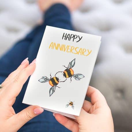 Anniversary Card for a bee lover