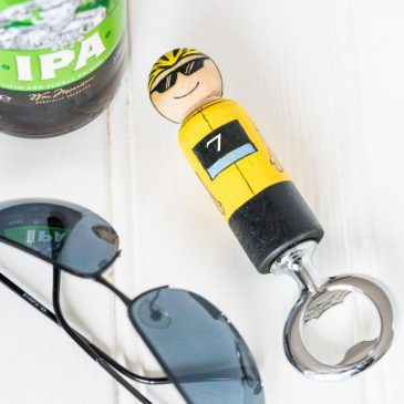 cycling gift bottle opener