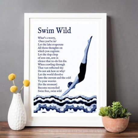 Open swimming print