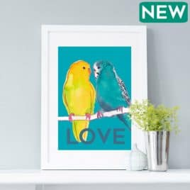 Love Budgies Print