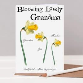 Blooming lovely Grandma card