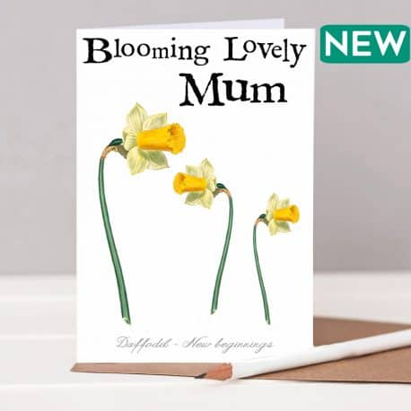 Mother's Day card with daffodils