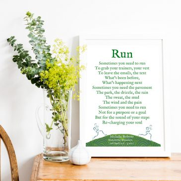 Personalised running print gift for marathon runners