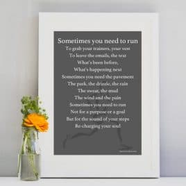 Run Print - Motivational gift for a runner