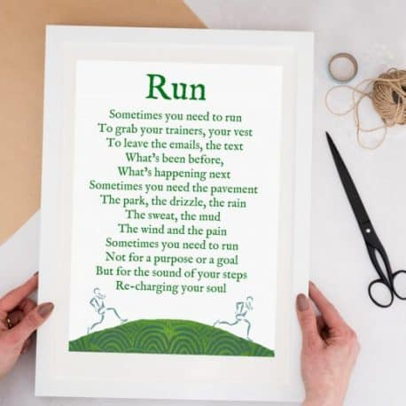 run print motivational gift for a runner