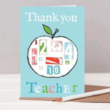 Teacher card thank you card for teacher