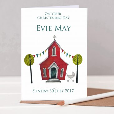 Personalised Christening Card – HTS127