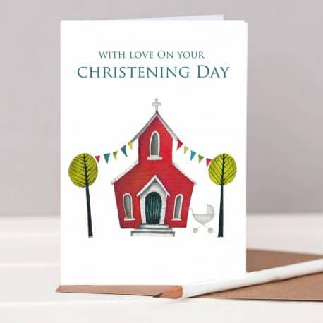 HTS127 Christening card stand up