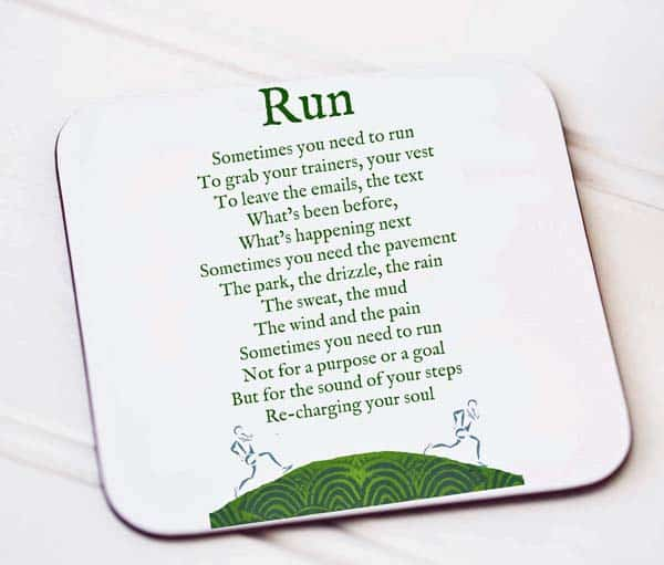 Run coaster gift for a running enthusiast