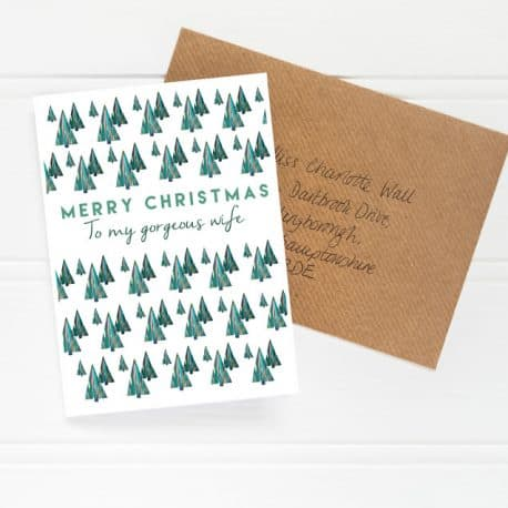Gorgeous wife Christmas Card flat shot low res