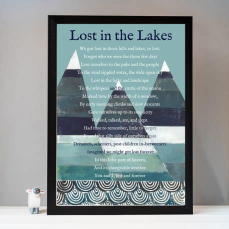 HTP219 Lost in the lakes lake district print