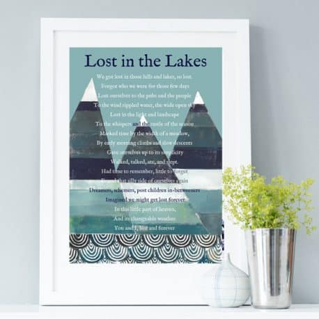 Lake District Poem Print