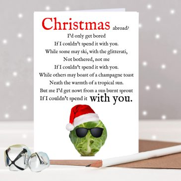 Funny Christmas Sprout Poem Card