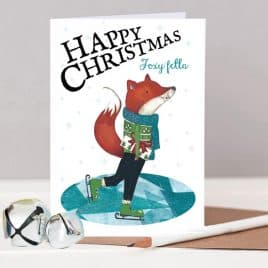 Foxy Fella Christmas Card For Husband