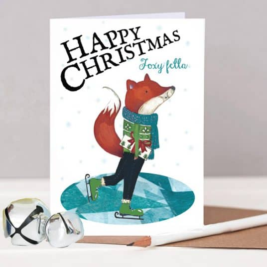 Low res HTS144 Foxy Fella Christmas Card