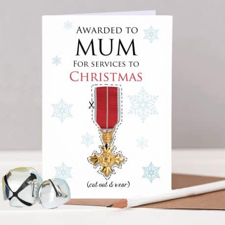 OBE Christmas Card for Mum
