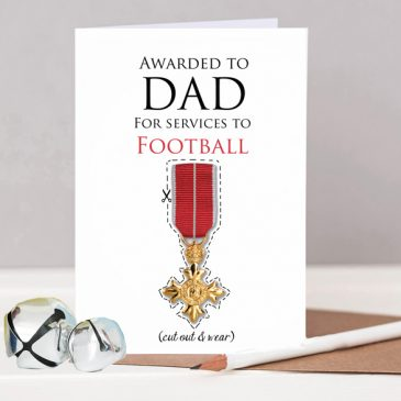 Personalised Father's Day card OBE