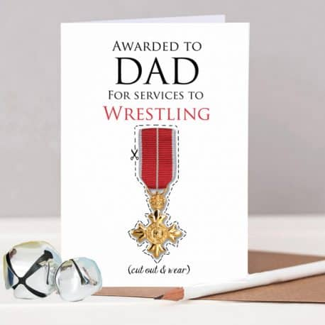 lo Res OBE Dad fathers day card wrestling Personalised