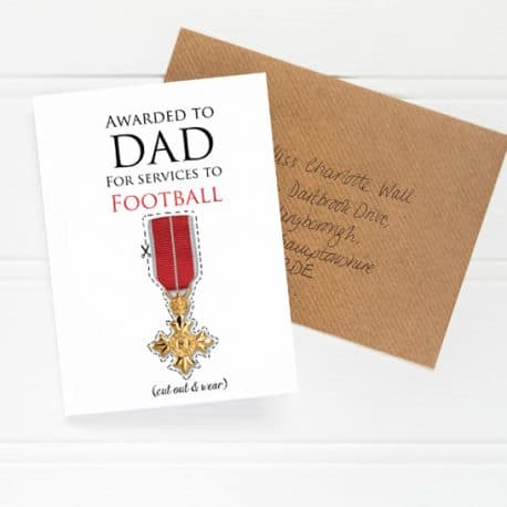 lo res Father's Day OBE Card flat shot