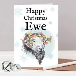 Happy Christmas Ewe Sheep Christmas Card