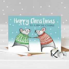 Happy Christmas Special Couple – Dancing Mice Christmas Card